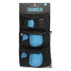 Tahwalhi 3 Piece Safety Pads Black / Blue XS, , rebel_hi-res