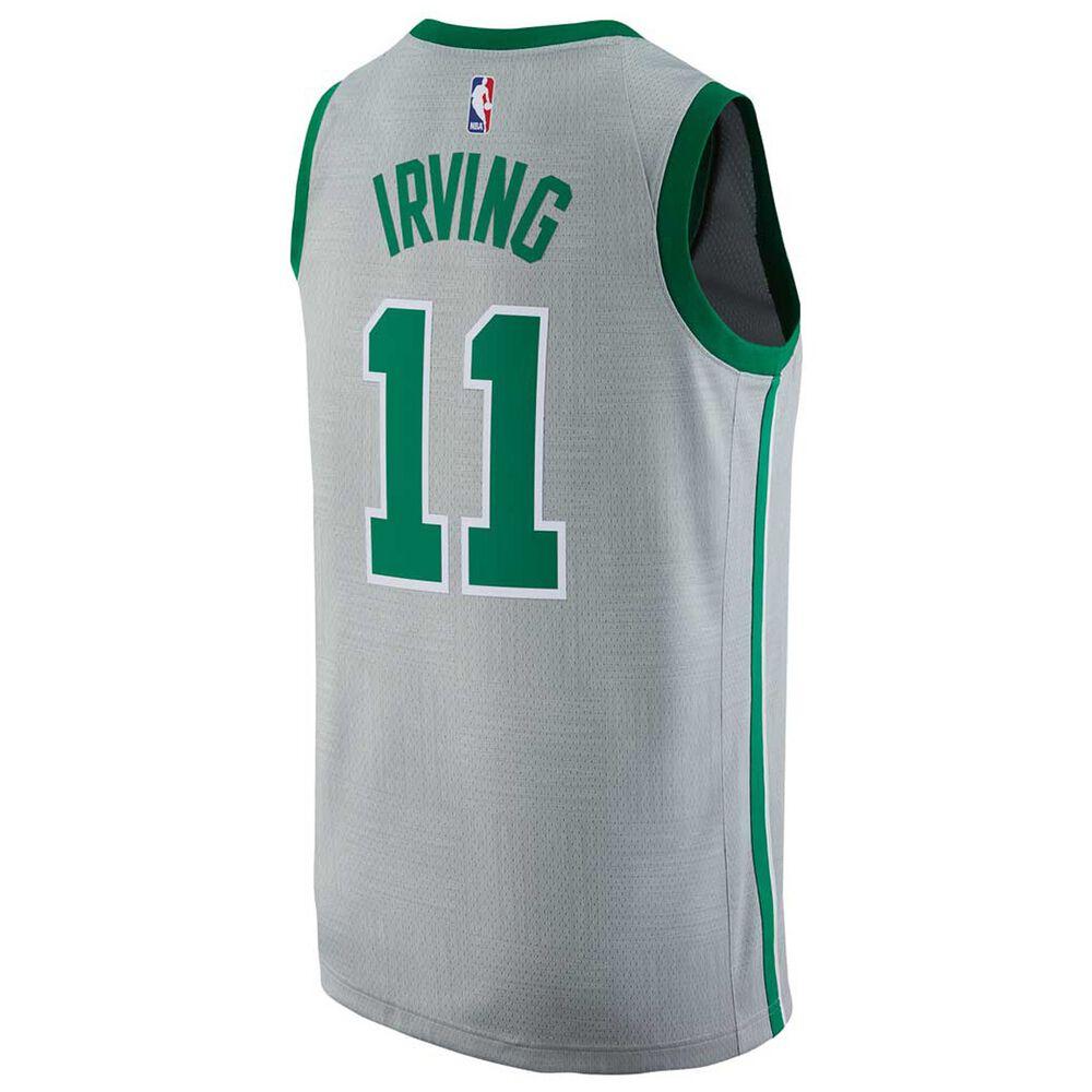 fca54b78075e Nike Mens Boston Celtics Kyrie Irving City 2018 Mens Swingman Jersey Silver  S