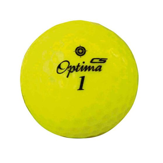 Optima Competition Spin Golf Ball Yellow, Yellow, rebel_hi-res