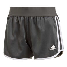 adidas Womens M10 Athletics Iteration Shorts Grey XS, Grey, rebel_hi-res