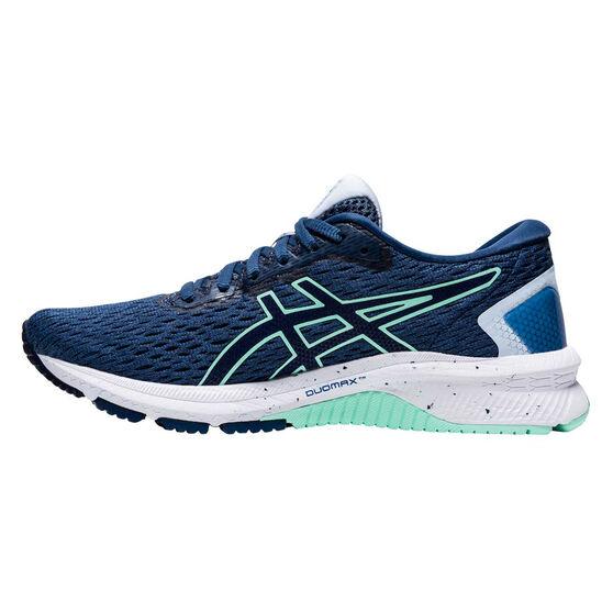 Asics GT 1000 9 Womens Running Shoes, Blue/Green, rebel_hi-res