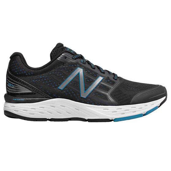 New Balance 680 v5 Womens Running Shoes, Black / Blue, rebel_hi-res