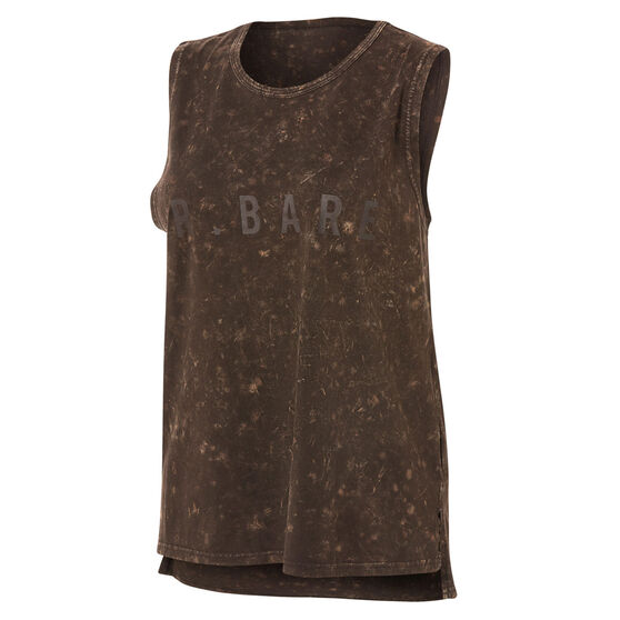 Running Bare Womens Easy Rider Muscle Tank, Brown, rebel_hi-res