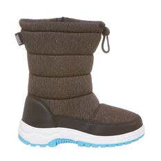 Tahwalhi Wizard Kids Snow Boots Grey 4, Grey, rebel_hi-res