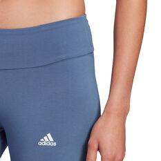 adidas Womens Essentials Cut 3-Stripes Tights, Blue, rebel_hi-res