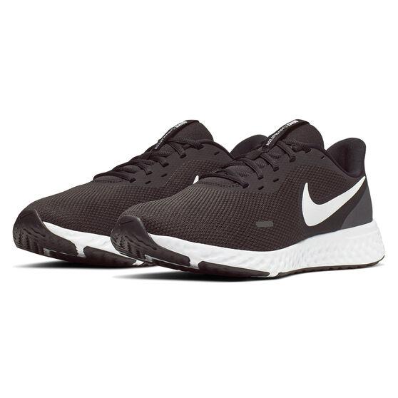 Nike Revolution 5 Mens Running Shoes, Black/White, rebel_hi-res