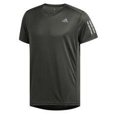 adidas Mens Own The Run Tee Khaki XS, Khaki, rebel_hi-res