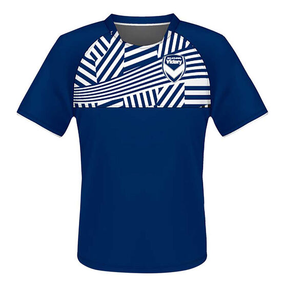 Melbourne Victory Mens Supporter Training Tee, Navy, rebel_hi-res
