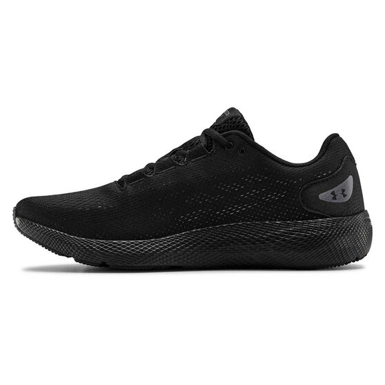 Under Armour Charged Pursuit 2 Mens Running Shoes Black US 8, Black, rebel_hi-res
