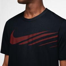 Nike Mens Dri-FIT Sports Clash SU21 Tee Black XS, Black, rebel_hi-res