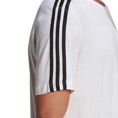 adidas Mens Essentials 3-Stripes Tee, White, rebel_hi-res