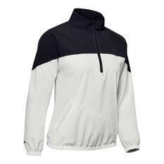 Under Armour Womens Woven Anorak Half Zip Jacket White XS, , rebel_hi-res