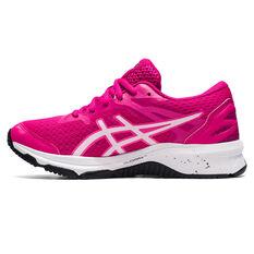 Asics GT 1000 10 Kids Running Shoes Pink/White US 1, Pink/White, rebel_hi-res