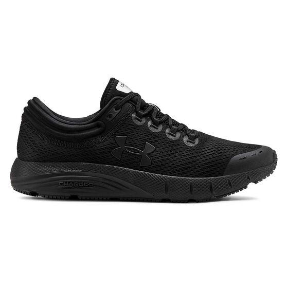 Under Armour Charged Bandit 5 Mens Running Shoes Black US 12, Black, rebel_hi-res