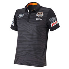 Wests Tigers 2019 Mens Sub Polo Black S, Black, rebel_hi-res
