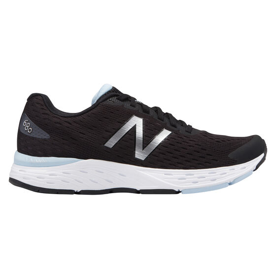 New Balance 680 v5 Womens Running Shoes, Black / White, rebel_hi-res