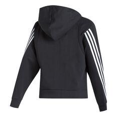 adidas Womens FI 3s Full Zip Hoodie Black XS, Black, rebel_hi-res