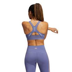 adidas Womens Believe This Medium Support Sports Bra, Purple, rebel_hi-res