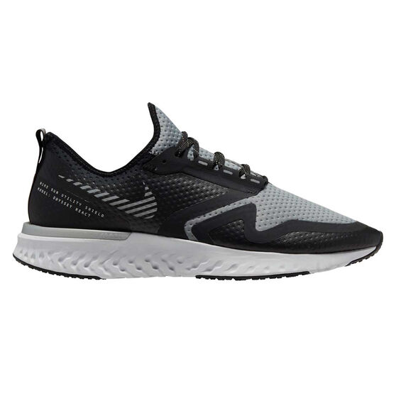 Nike Odyssey React Shield 2 Mens Running Shoes Black / Silver US 8.5, Black / Silver, rebel_hi-res