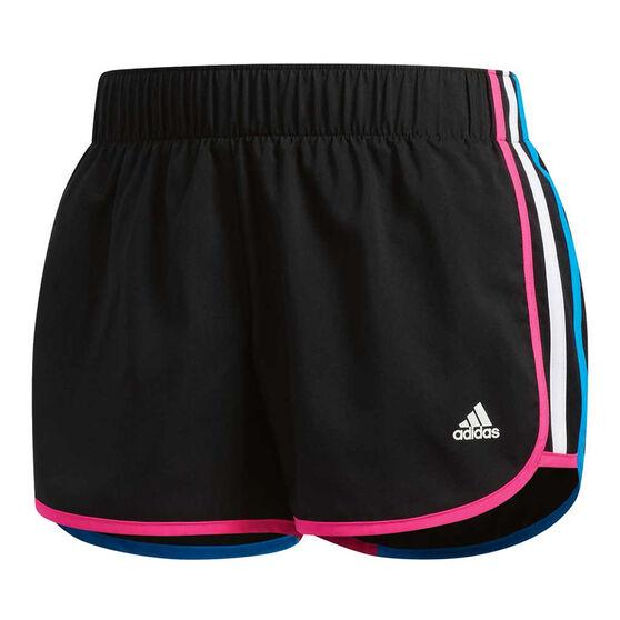 adidas Womens M10 Icon Shorts Black XL, Black, rebel_hi-res