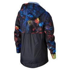 Nike Girls Sportswear Wind Runner Floral Windbreaker Blue XS, Blue, rebel_hi-res