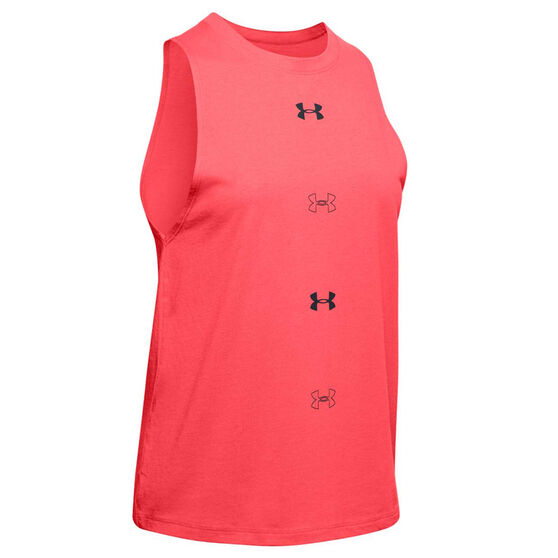 Under Armour Womens Graphic Muscle Tank, Red, rebel_hi-res