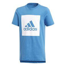 adidas Boys Essentials Logo 2 Tee Royal / White 8, Royal / White, rebel_hi-res