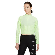 Nike Womens Run Division Running Top Green XS, Green, rebel_hi-res