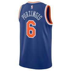 Nike New York Knicks Kristaps Porzingis 2019 Mens Swingman Jersey Royal S, Royal, rebel_hi-res