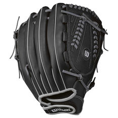 Wilson 360 Slowpitch Right Hand Softball Glove Black 13in Right Hand, Black, rebel_hi-res