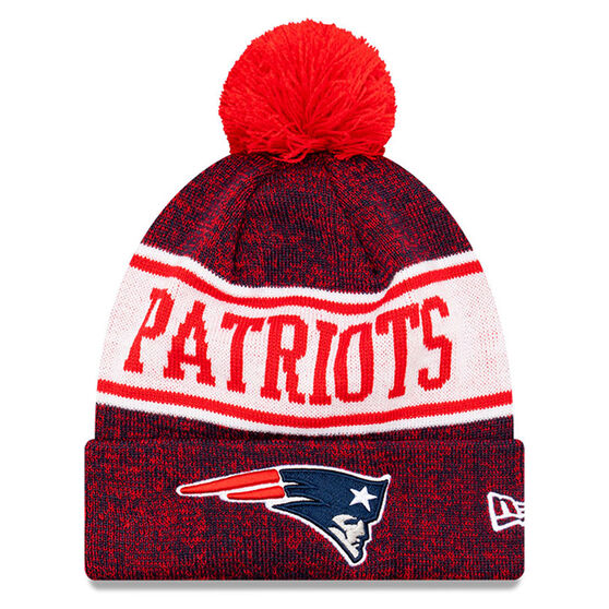 New England Patriots New Era Pom Knit Beanie, , rebel_hi-res