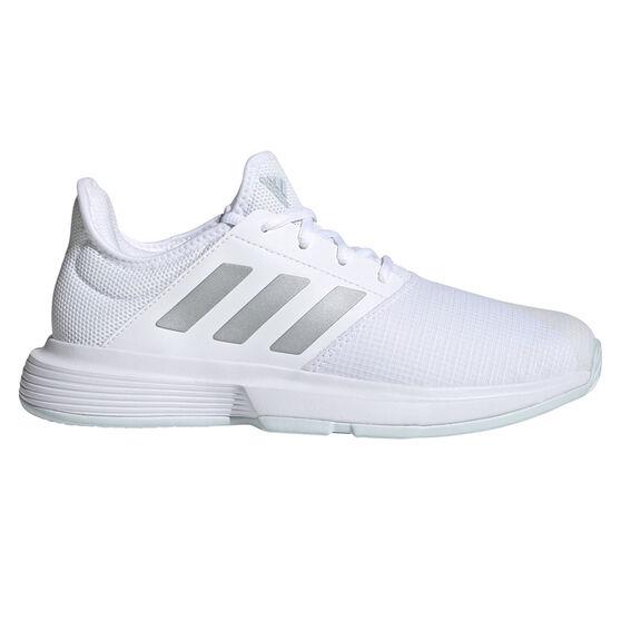 adidas GameCourt Womens Tennis Shoes, Blue/Silver, rebel_hi-res