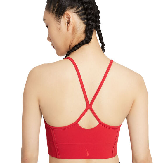 Nike Womens Yoga Dri-FIT Indy Sports Bra, Red, rebel_hi-res