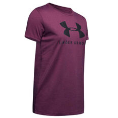 Under Armour Womens Graphic Sportstyle Classic Tee, Purple, rebel_hi-res