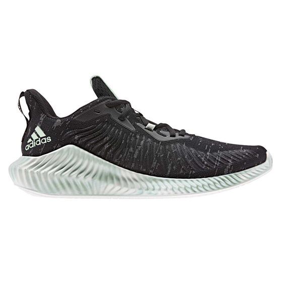 adidas Alphabounce Parley Mens Running Shoes, Black / Green, rebel_hi-res