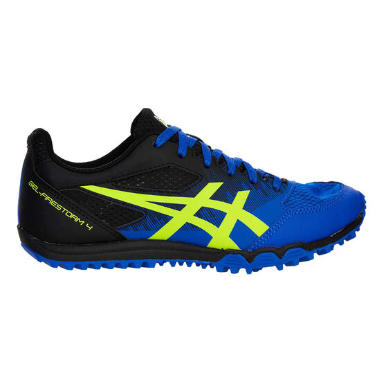 Asics GEL Firestorm 4 Kids Track Shoes, Black / Blue, rebel_hi-res