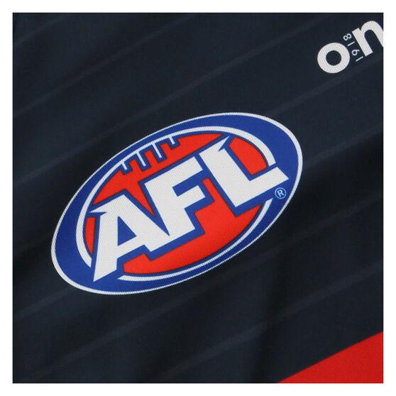 Adelaide Crows 2021 Mens Run Out Tee, Blue, rebel_hi-res