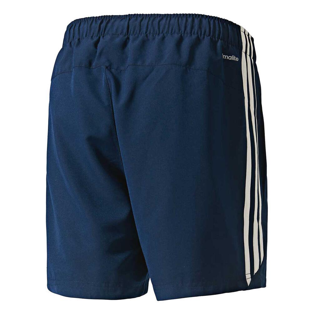 e39762f516f adidas Mens 3 Stripe Chelsea Shorts Navy   White L Adult