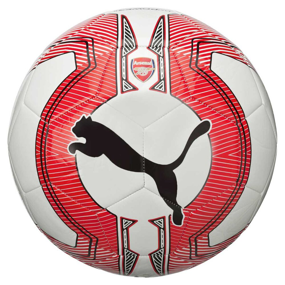 Puma Arsenal EvoPOWER 6 Training Soccer Ball White   Red 5  d435519ace