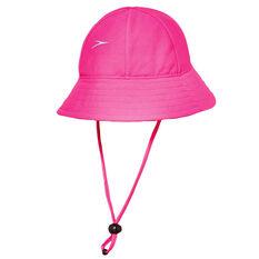 Speedo Toddler Girls Shade Hat Pink XS, Pink, rebel_hi-res