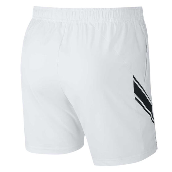 NikeCourt Mens Dri-FIT Tennis Shorts, White, rebel_hi-res
