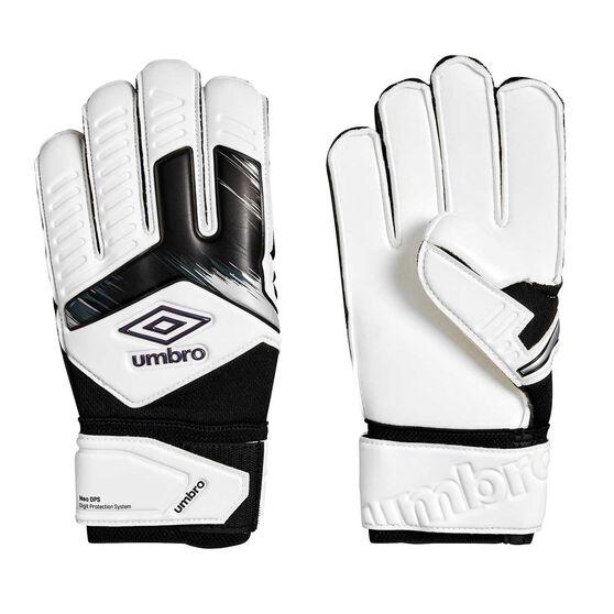 Umbro Neo Precision Digit Protection Goalkeeping Gloves, White / Purple, rebel_hi-res