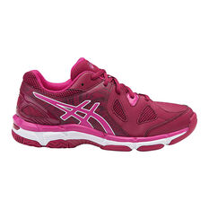 Asics Gel Netburner Super 7 Girls Netball Shoes Pink / White US 2, Pink / White, rebel_hi-res