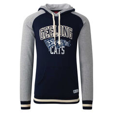 Geelong Cats Mens Collegiate Pullover Hoodie Blue S, Blue, rebel_hi-res