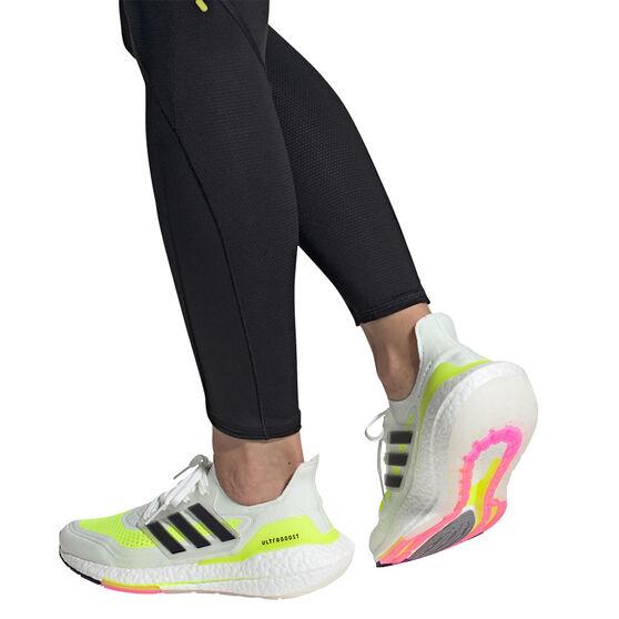 adidas Ultraboost 21 Womens Running Shoes, White/Black, rebel_hi-res