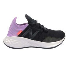 New Balance Fresh Foam Roav Kids Running Shoes Black / Purple US 11, Black / Purple, rebel_hi-res