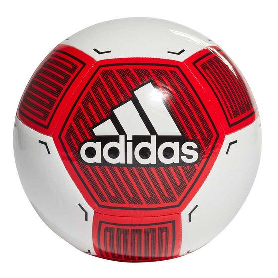 adidas Starlancer VI Soccer Ball, White / Red, rebel_hi-res