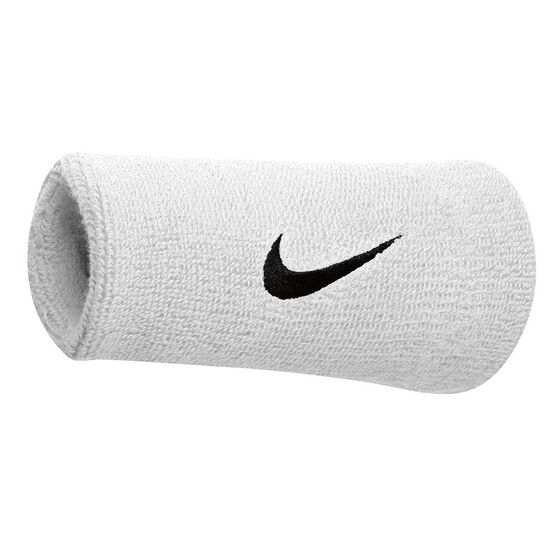 Nike Swoosh Double Wide Wristband White/Black, , rebel_hi-res