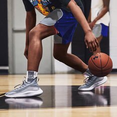 Under Armour Curry 8 Reflect Basketball Shoes, Grey/White, rebel_hi-res
