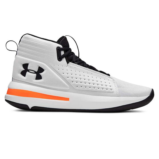 Under Armour Torch Mens Basketball Shoes, White / Black, rebel_hi-res
